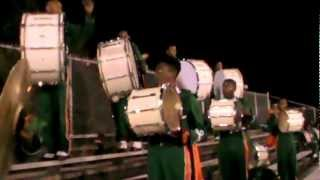 LHS Percussion (DΦD) 2012 Williamson Game | Solo (Even the Bass Drums)