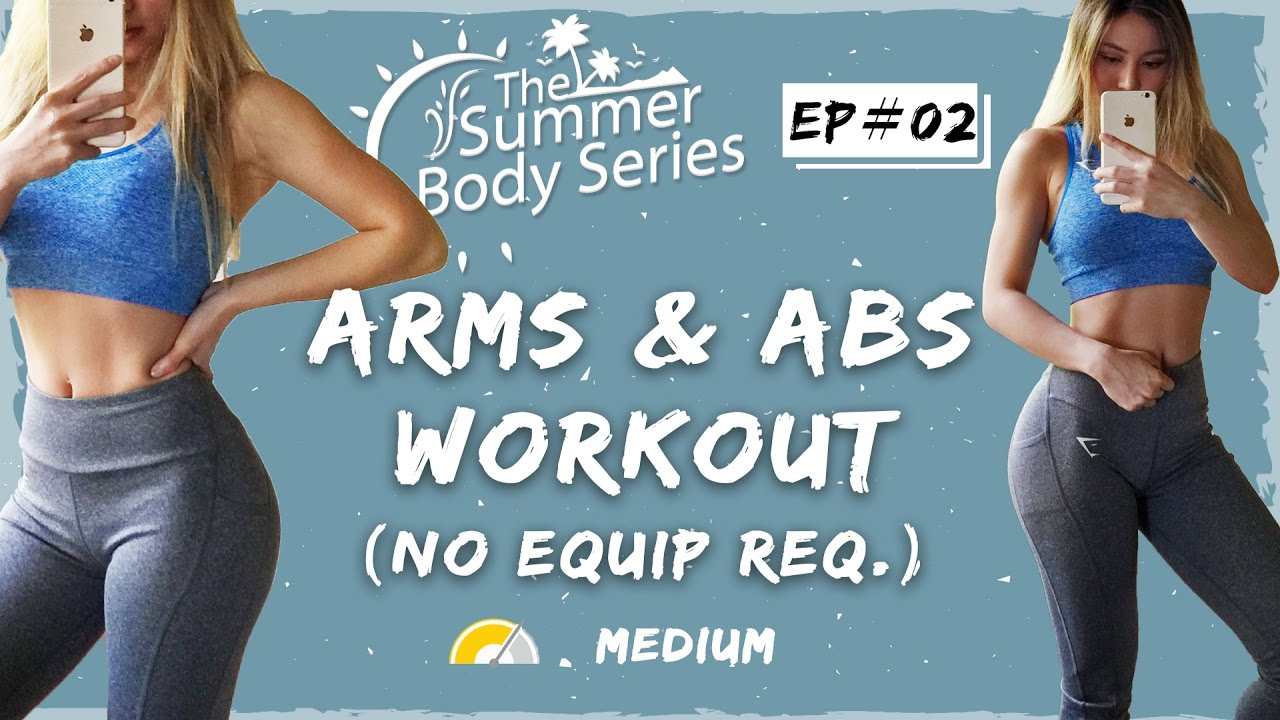 Lean Arms Workout | Toned Arms and Abs Exercises | At Home Workout - YouTube