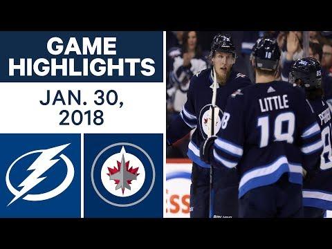 NHL Game Highlights | Lightning vs. Jets - Jan. 30, 2018