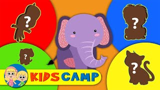 Match the Animals Shape at the Zoo | Fun Learning Video by Kidscamp