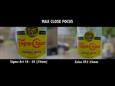 Photo Zoom Lens Vs Cine Prime - Sigma Art 18-35 and Zeiss CP2  Drewing A Blank