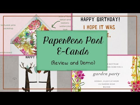 Paperless Post Review And Demo