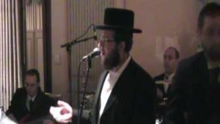 Shragy Gestetner Singing at a Wedding Meal