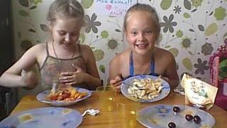 ЧЕЛЛЕНДЖ  фруктовый салат US овощной ОТ КСЮШИ И МАШИ:)