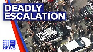 US in chaos protesting against police violence | Nine News Australia