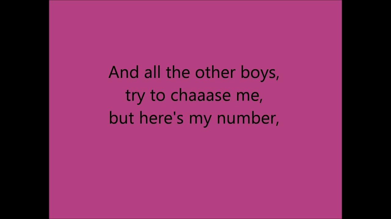 Carly Ray Jepson-Call me Maybe (LYRICS ON SCREEN ... - YouTube