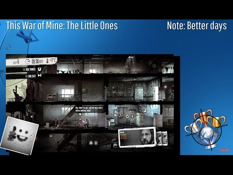 This War Of Mine: The Little Ones - Note: Better Days - Trophy/Achievement (CZ)