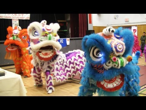 Lion Dance Calgary 2013 At Woodman Junior High School