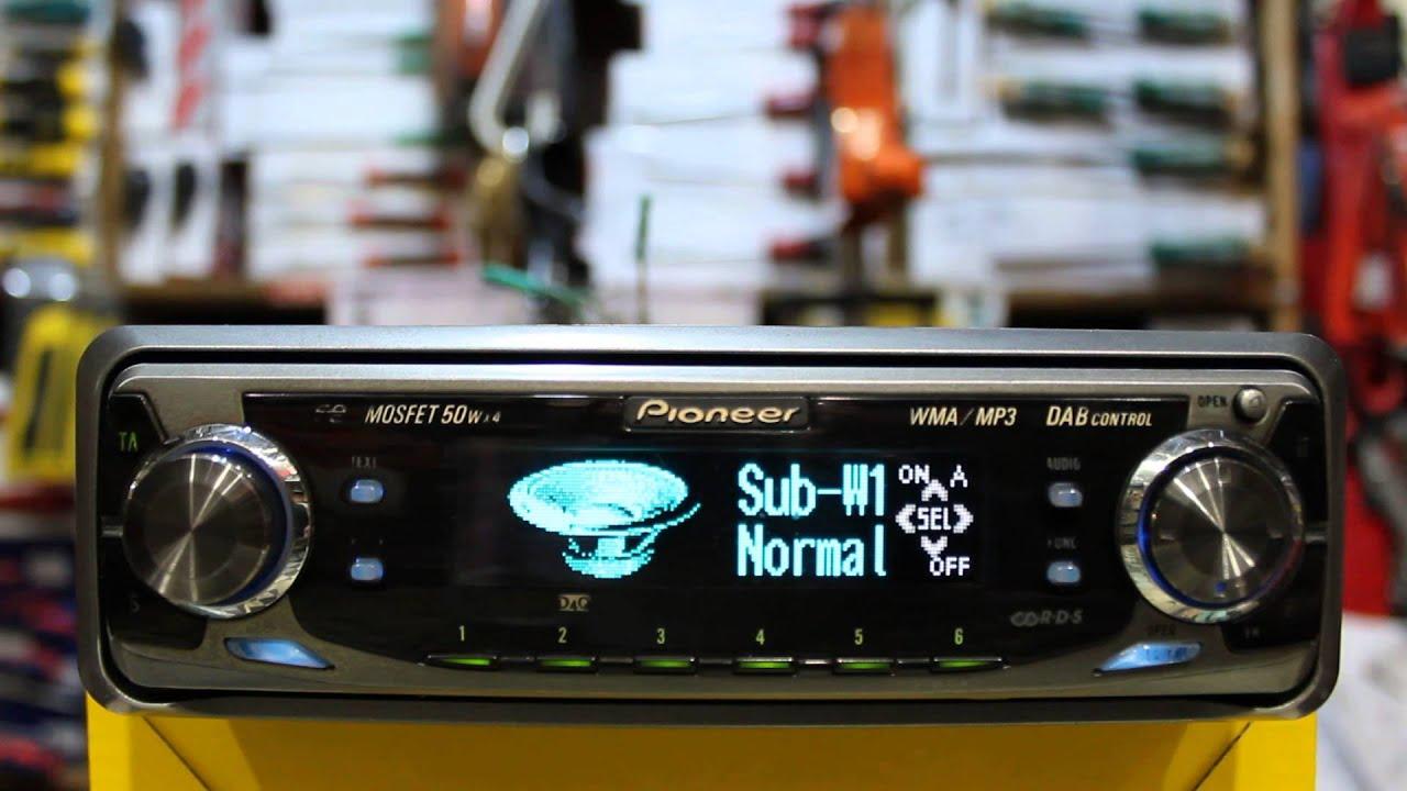Pioneer carrozzeria deh-p099 инструкция