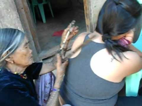 traditional tattoo by mambabatok apo whang od youtube. Black Bedroom Furniture Sets. Home Design Ideas