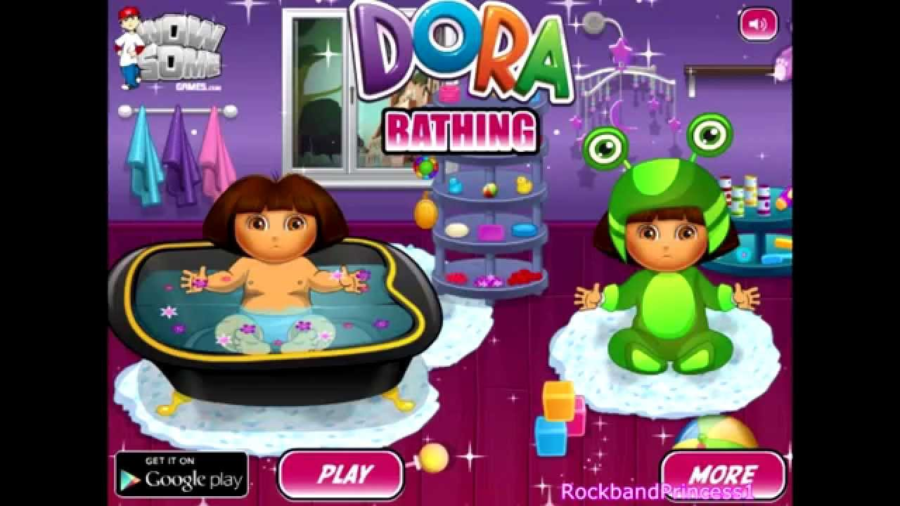 Baby Games Dora The Explorer Bath Game Baby Dora Games