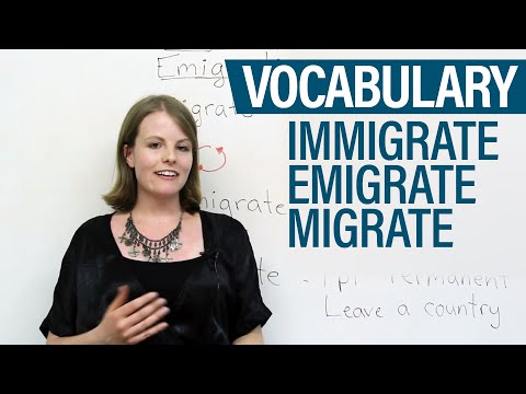 Vocabulary - Immigrate, Emigrate, Migrate