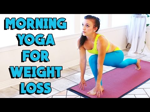 Morning Yoga for Weight Loss! 20 Minute Beginners Home Worko