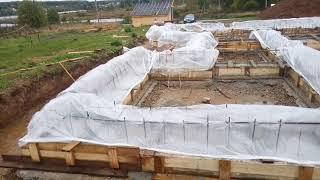Приемка бетона в ливень. Фундамент подписчику. Обзор
