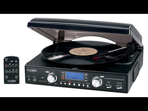Jensen JTA-460 3-Speed Turntable with MP3 Encoding and AM/FM Stereo Radio