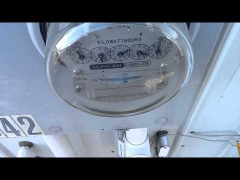 TESLA TURBINE STEAM GENERATOR PROJECT. ELECTRIC METER TURNING REVERSING DIRECTION