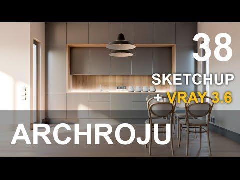 SketchUp - Wizualizacja kuchni - Tutorial 38