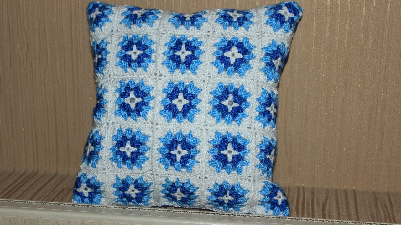 How to crochet a colorful granny square pillow diy home tutorial how to crochet a colorful granny square pillow diy home tutorial guidecentral youtube dt1010fo
