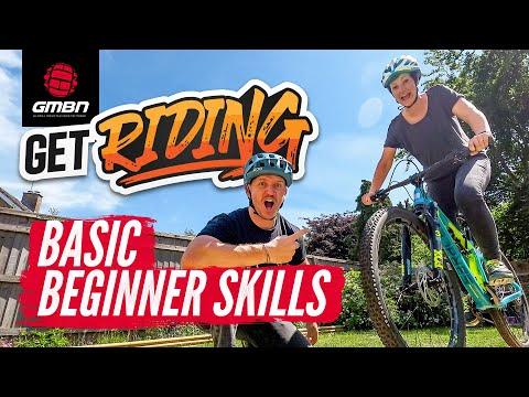 Mountain Bike Beginner Skills   Blake Teaches Jenna How To MTB   #GetRiding Week