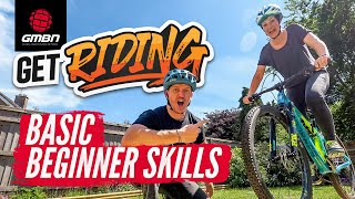 Mountain Bike Beginner Skills | Blake Teaches Jenna How To MTB | #GetRiding Week