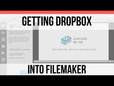 Getting Dropbox into FileMaker-LiveCode FileMaker Integration-FileMaker 15 Video Training