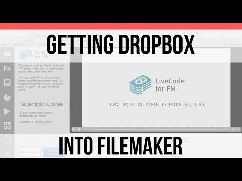 Getting Dropbox into FileMaker-LiveCode FileMaker Integration-FileMaker 15 Video Training