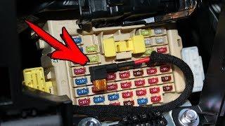 скрытое подключение видеорегистратора без вмешательства в проводку автомобиля