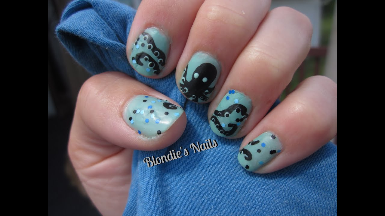 Octopus nail art youtube octopus nail art prinsesfo Image collections