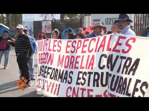 Bloquea CNTE avenida en Morelia; exigen cancelar evaluación
