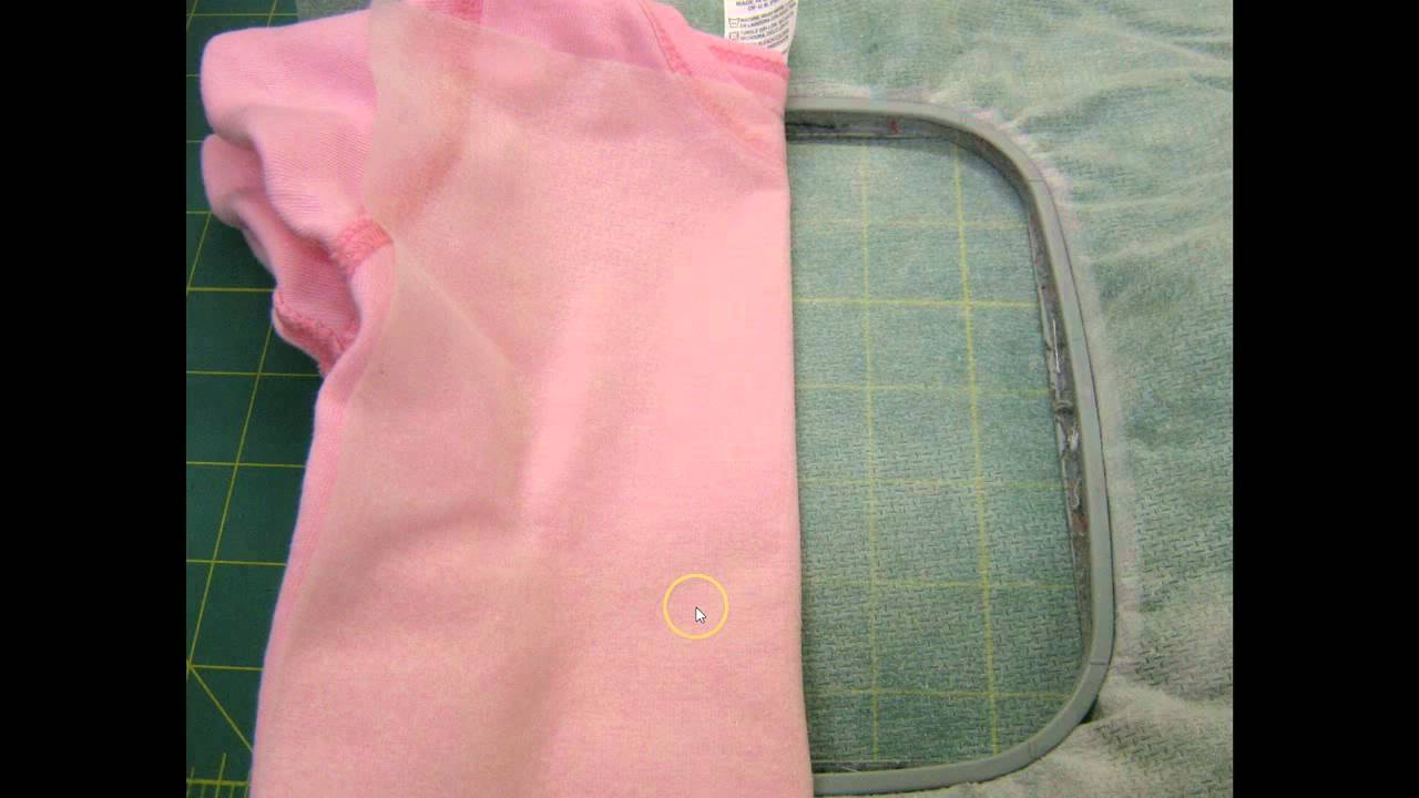 How To Embroider A Baby Onesie Youtube