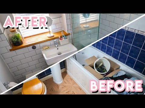 DIY Bathroom Makeover + Renovation 2018 | Becky Excell