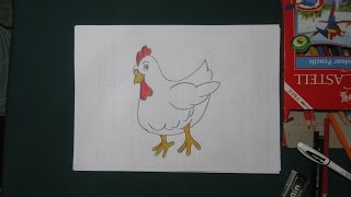 How to Draw Hen | Easy Drawing Tutorial