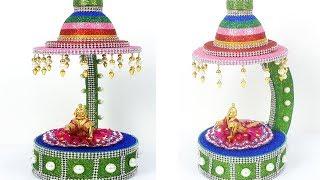 Krishna Janmashtami Special Decoration Craft - Krishna Chowki/ Ganpati Makhar Making Idea at home