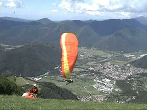 Paragliding  collision with a UFO