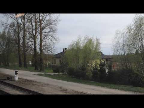 シャウレイからビリニュスまでの列車の車窓①【リトアニア:バルト三国】