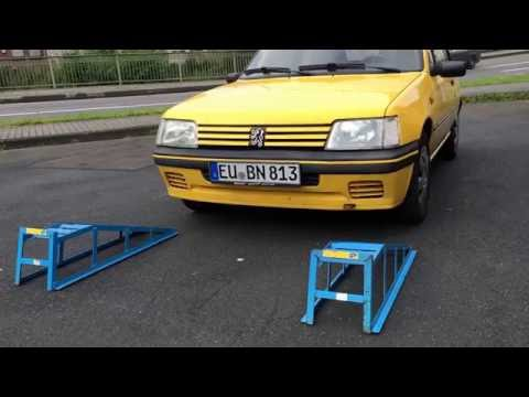 How to use Car Lift Service Ramps Vehicle Ramp Front Version Peugeot 205 Roland Garros DIY