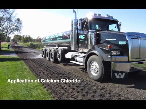 Road Recycling With Calcium Chloride - Whitley County