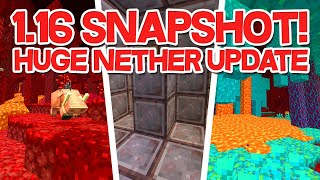 *NEW* Minecraft 1.16 NETHER UPDATE NEWS & SNAPSHOT PREVIEW (New Biomes, Netherite Armor & Blocks)