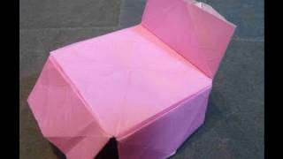 How To Make Easy Comfy Cute Bed Origami ベッド折り紙 Cama Kama 床摺紙 Tempat Tidur