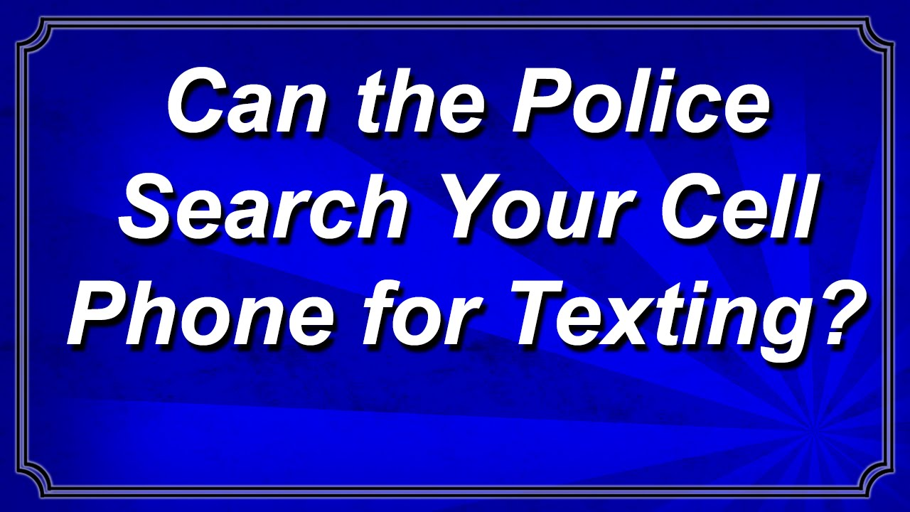 What to do if your phone is seized by the police