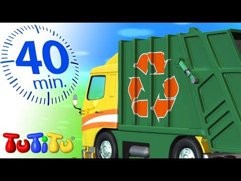 Đồ chơi xe hơi   xe chở rác   Xe TuTiTu Biên soạn cho trẻ em