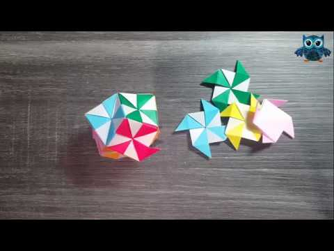 Origami Polyhedron Tutorial (How to fold)