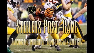 Steelers Post-Game: Breaking down the improbable comeback win over the Bengals