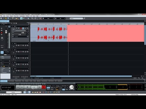 MAGIX Samplitude Music Studio 2016 – Recording tutorial (INT)