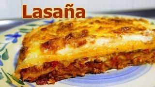 receta LASAÑA DE CARNE MOLIDA Y QUESO | recetas de cocina faciles rapidas y economicas | comidas thumbnail