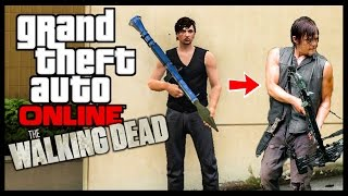 GTA Online DARYL FROM THE WALKING DEAD + How to Wear a Vest By Itself! (New Clothing Glitch)