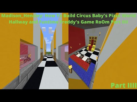 Minecraft Circus Baby Pizza World How To Build Hallway and ...