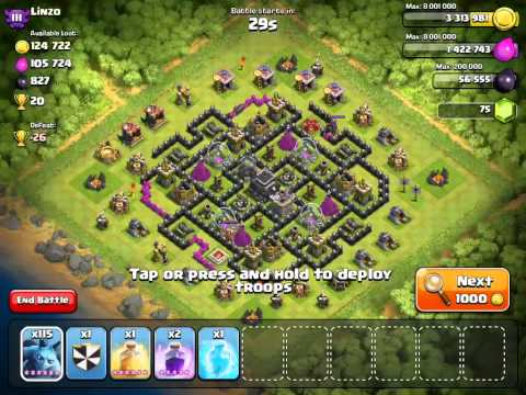 Clash Of Clans - Ataque Con Esbirros Nivel 6