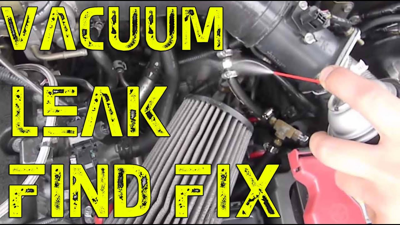 DIY Vacuum leak findfix   High idle check engine light