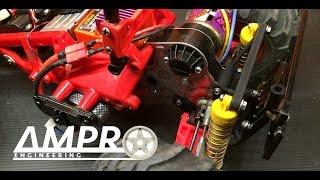 e40 ampro double wishbone orv suspension testing outdoor track
